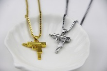2017 Hot Hip Hop Dance Charm Gun SUPREME Necklace Star Jewelry Men Franco Chain Hiphop Golden Necklace