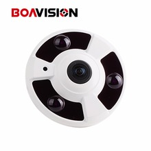 1080P IP Camera (POE) Onvif Fisheye Panorama 5MP Lens IR Night Vision HD Security CCTV Camera 2MP 360 Degree View P2P XMEye(China)