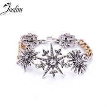 JOOLIM  Jewelry Wholesale/2017 Gorgeous Vintage Starburst Statement Bracelet For Women /Jewelry Factory Supply
