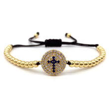 Buy NAIQUBE 2017 Fashion Men Women Pave CZ Cross 4 mm Round Beads Bracelets & Bangle Braiding Macrame Charm Bracelets Jewelry Gift for $3.46 in AliExpress store