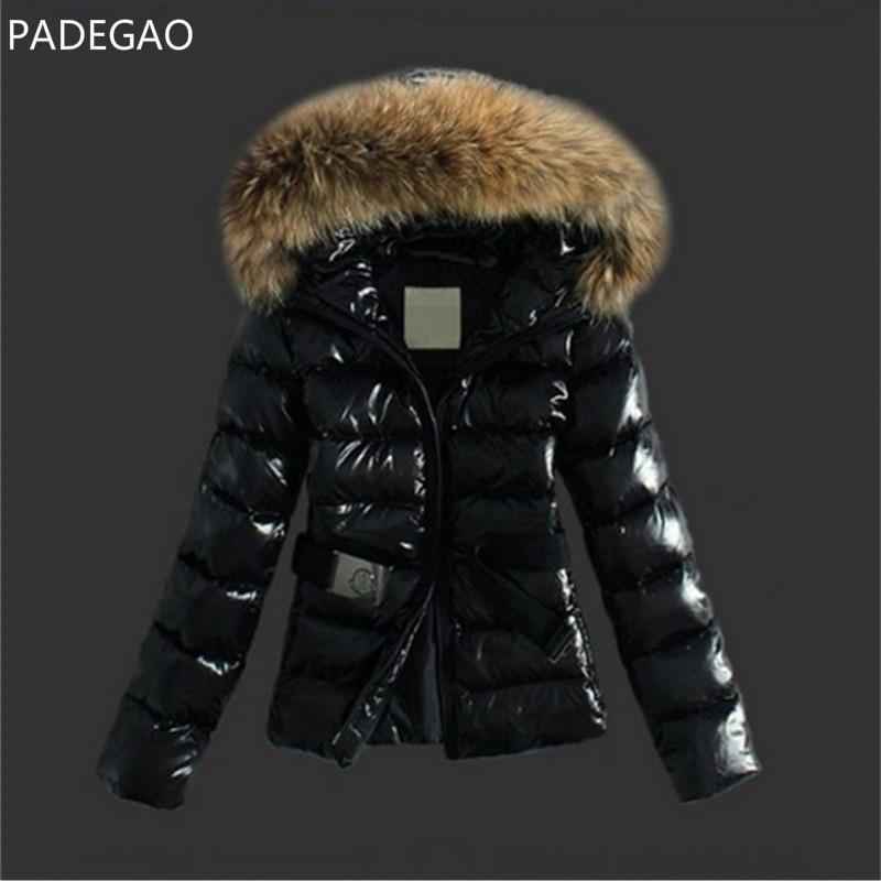 2017 Winter New Women Fur Collar Parka Down Cotton Jacket Belt Hooded Cotton Padded Coat Slim Fit Snow Warm Quilted JacketÎäåæäà è àêñåññóàðû<br><br>