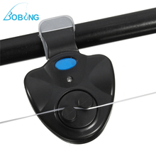 Bobing LED Light Sea Fishing Bite Alarms Lights Fish Bite Sound Alarm Bell Clip On Fishing Rod Light Tackle Tool Accessory