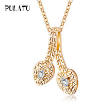 Buy PULATU Zircon Long Necklace Dress Chain Fashion Fine Metal Chain Crystal Pendant Necklace Lady Necklace Girls Women for $4.20 in AliExpress store