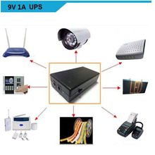 Hot sales!! backup power lithium , mini ups battery, dc ups wifi route 9V 1A ups  Security products