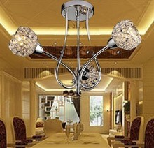 Modern brief k9 crystal small ceiling pendant lamp plumbing hose