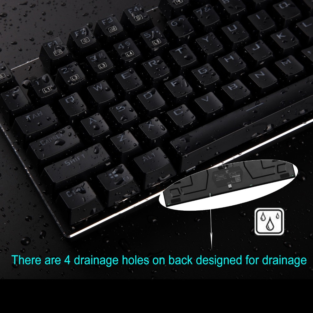 5. waterproof mechanical keyboard