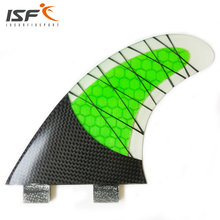 NEW Style FCS Fin Carbonfiber Green Surfboard Fins prancha quilhas de Surf Fins size G5