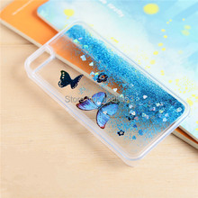Print Butterfly Sparkle Phone Case Quicksand Case Bling Cell Phone Case Soft Cover for Apple iphone 5 5S EC674