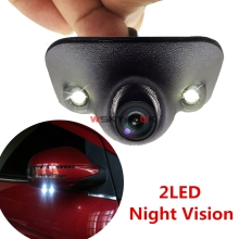 360 Degree Rotation Bright 2LED Night Vision Car Front Left/Light Side View Blind Spot HD Camera Waterproof(China)