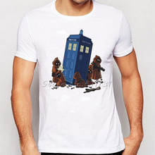 2016 Newest Design Jawas TARDIS Star Wars Doctor Who T-Shirt Men Fashion Cool Novelty Tee Tops Clothing Camisetas Hombre(China)