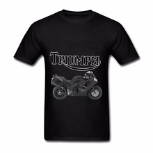 Online Fashion 2018 Hot Sell Triumph motorcycles Men's short T-shirt 100% Cotton fuuny fitness Christmas The black friday(China)