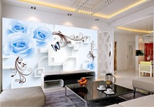 BLUELOVER roses vine 3D three-dimensional design custom 3d photo wallpaper Home Decoration(China)