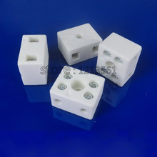 DHL Freeshipping 100PCS 33.5*18*15.5mm 10A High temperature resistant 8 Holes Screw mounting ceramics Terminal insulation Blocks