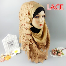 M10 20pcs lace shawl lace hijab women scarf scarves wrap can choose colors(China)