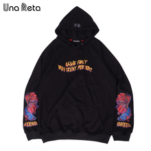 Una Reta Brand New Design Hoodie Men Fashion Sweatshirts Autumn And Winter Hip-Hop Style Plus Size M-5XL Casual Pullover(China)