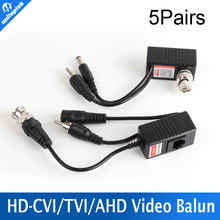5 Pair/lot CCTV CAT5/5E/6 Cable Balun RJ45 Video Power Balun Video Audio Power For HD AHD,HDCVI HDTVI 720P CCTV Camera