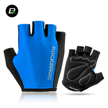 ROCKBROS Bicycle Glove Outdoor Cycling Sports Breathable Gloves Bike Half Finger Sponge Pad Professional Gloves Unisex 5 Colors