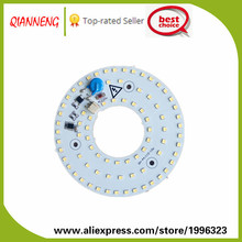 Free shipping led 12w energy saving lamp input AC 220V with driver on board aluminum pcb ring led lights for home
