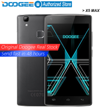 DOOGEE X5 Max mobile phones fingerprint 4000mAH 5.0InchHD 1GB RAM+8GB ROM MT6580 Quad Core 1.3Ghz WCDMA WIFI Android6.0 Dual SIM