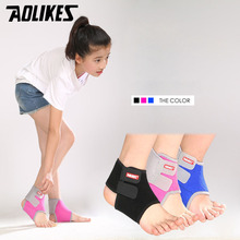 AOLIKES 1Pair Children ankle support sports basketball ankle braces taekwondo foot protector ankle guard summer girls dancing(China)