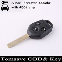 Original Size 3 Buttons FOB Keyless Remote Key Car Remote Key For Subaru Forester 433Mhz with 4D62 chip/XV With G chip 433Mhz