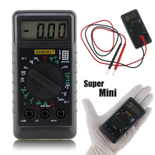 Mini Digital Multimeter Pocket DMM AC/DC Current Voltage Resistance Multitesters Mini Ammeter Voltmeter OHM Testersr With Buzzer(China)