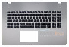 Value For Money!!! New for ASUS N76 N76V N76VB N76VJ N76VM N76VZ UK Layout backlit keyboard With Silver Top C Cover