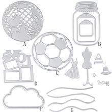 Silver Globe/Clouds/football/Clothing New Metal Cutting Dies Stencil DIY Scrapbooking Embossing Album Paper Card Craft