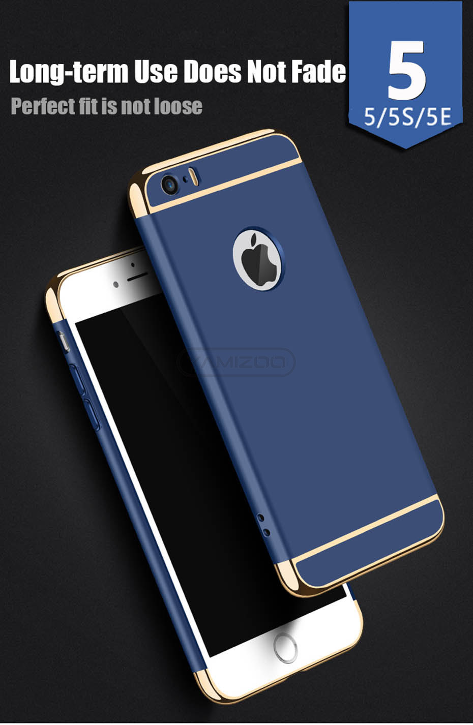 YAMIZOO 5s For iPhone se 5 Case 360 protection Phone Cases On Luxury Full Hard Plastic Coque Back Cover For iPhone 5s se 5 Case (3)