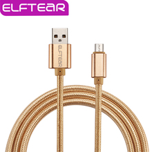 Micro USB Cable Nylon Fast Charging Cable Cord with Wire Metal Plug 1m USB Data Charger Cable for all Android Phones