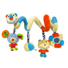 New Multi Function Cute Infant Baby play Activity Spiral Bed and Stroller Toy Set Hanging Bell Crib Rattle Vocal Toy TY(China)