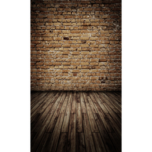 12ft vinyl print vintage brick wall with floor photography backdrops for model photo studio portrait background F-1584