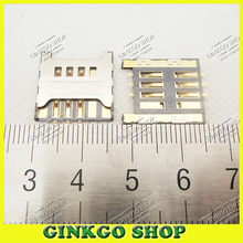 10pcs/lot SIM card reader holder Connector for samsung F619 C3730 3730C S5570C T959 S8500 SIM Card Slot Free shipping(China)
