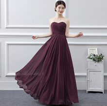 long chiffon made royal blue floor length bridesmaid occasion sweetheart a line dress simple style dresses coral B958