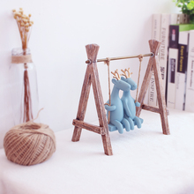 Swing Chair Deer Cute Models Animal Ornaments Resin Ornaments Home /Office Desktop Decoration Animal Lucky Best Gift(China)