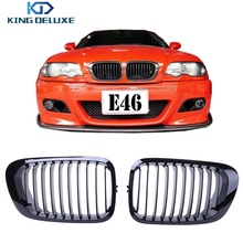 2x Gloss Black Kidney Grills Front Grilles For BMW E46 3 Series 325Ci 330Ci 323Ci 328Ci M3 1999-2006 Coupe Convertible #P189
