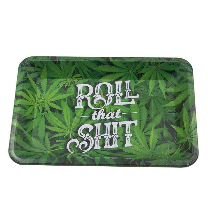 Tinplate Metal Bob Weed Herb Grinder Cigarette Container Tobacco Rolling Tray Storage Plate Discs For Smoke Tray Ashtrays