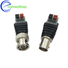 5Pairs Terminal Camera CCTV BNC Male + Female UTP Video Balun Connector Cable Adapter Plug Pressed Connected