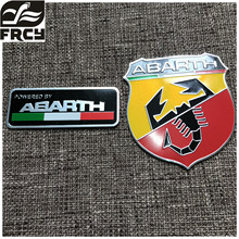 3D 3M Car Abarth Metal Adhesive Badge Emblem logo Decal Sticker Scorpion For All Fiat Abarth Punto 124/125/125/500 Car Styling