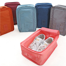 FILBAKE Portable Waterproof Shoes Bag Organizer Storage Pouch Pocket Packing Cubes Handle Nylon Zipper Bag for Travel Organizer(China)