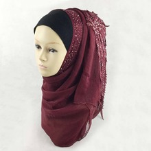 Muslim Islamic LADIES PASHMINA SHAWL WRAP SCARF STOLE WEDDING GIFT HIJAB Can Choose 23 Colors 180*65cm silk(China)