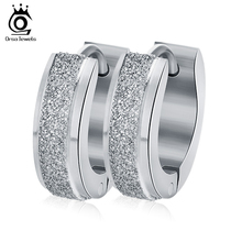 ORSA JEWELS Silver Color&Gold-Color Punk Rock Stainless Steel Small Hoop Earrings for Women Wedding Party Jewelry GTE02(China)