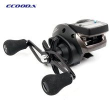 Free Shipping! Ecooda OFB500 dual power digital fishing reel raft reel ice reel baitcasting reel right handle and left handle