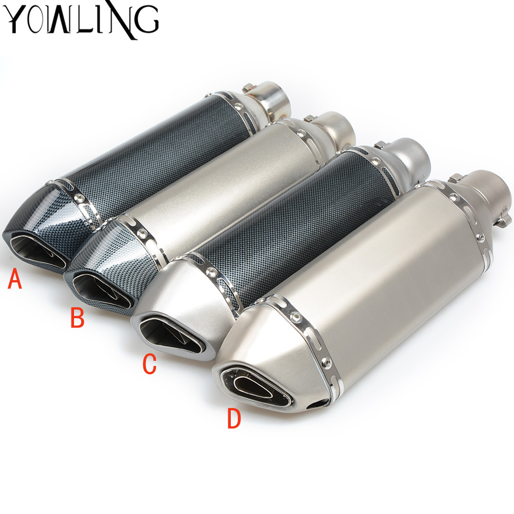 Universal 36-51mm MOTORCYCLE EXHAUST MUFFLER SCOOTER PIPE DIRT BIKE FOR Kawasaki yamaha honda CB919/599/600 BMW S1000RR