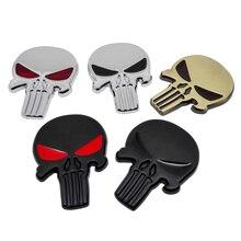 3D Metal Skull Emblem Badge Car Stickers Decals Auto Motorcycle bmw e46 volkswagen ford focus 2 mercedes audi a3 peugeot