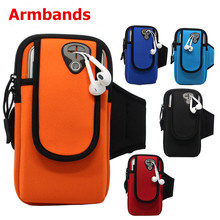 For iPhone 5 5S 6 6S Plus Phone Cases Fashion Brassard Sports Running Jogging Gym Armband Arm Band Bags Various Color(China)