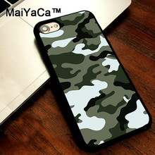 MaiYaCa Camo Camouflage Pattern cover soft TPU Rubber Skin Mobile Phone case For iPhone 5s SE 5 funda Coque Back Shell(China)
