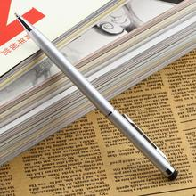 High Quality Silver Capacitive Touch Screen Stylus with Ball Point Pen 2in1 Stylus Pen for touch screen(China)