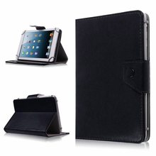 "Soft Universal 8"" 8inch Android Tablet PC MID Folio Leather Stand Cover Case White Black Rose Red Orange Color(China)"