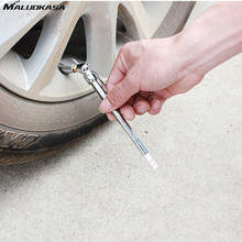 MALUOKASA Portable Car Tire Air Pressure Test Pen Vehicle Auto Motorcycle Tyre Check Meter Pen Silvery 5-50 PSI Diagnostic Tools(China)
